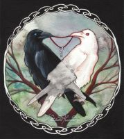 Huginn and Muninn by UnripeHamadryad