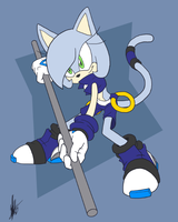 Commission NeedleMouse: Velocity the Cat by ShockRabbit
