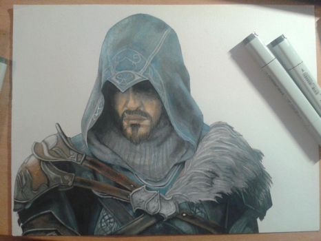WIP - Ezio (Revelations) by Black--Forest