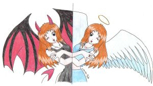 Devil and Angel by izka197