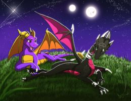 Spyro, it's bedtime yet by YunakiDraw