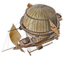 Steam Airship 03 PNG Stock by Roys-Art