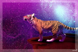 Space Tiger + SPEEDPAINT + by DarkMasterOfDragons