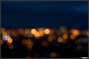 ''Bokeh' on the city by Yannh76