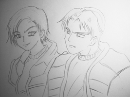 Jun'ko Zane and Edison Trent by moon-child-reo
