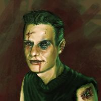Self portrait +containts blood by Joey-B
