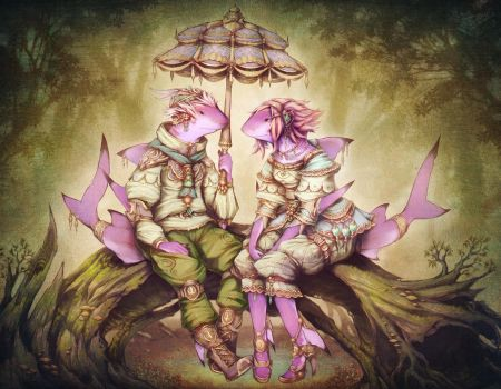 A Fantasy Couple Sharks by Astral-Requin