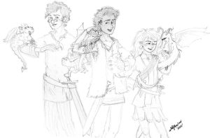 Berk Kids and Dragons by Hollyboo2001