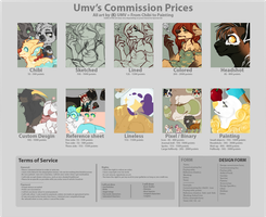 [OPEN] Commission prices by umv