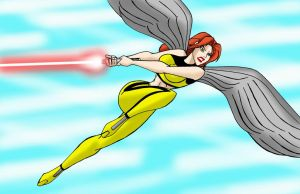 Hawkgirl Jedi red by JosephB222