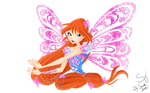 Winx club. Bloom Butterflyix by BySarahBrain