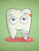 Cartoon Sick Tooth by KellerAC
