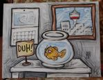 Goldfish in a Bowl by littlecrow