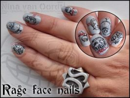 rage face nails by Ninails