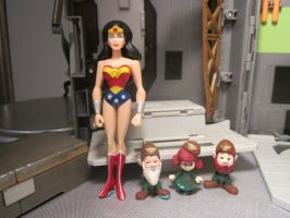 AMAZONS: WONDER WOMAN, SHAGGY, WOGGLE, HOPPY by monitor-earthprime