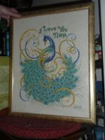 Peacock Cross-stitch by EvilChocolate46