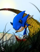 Sonic The Hedgehog by CLE2