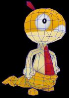 scraggy papercraft ready to build by javierini