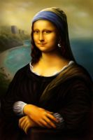 Mona Lisa with a pearl earring by Dr-F0x