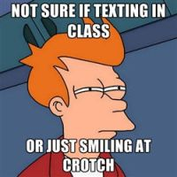 Fry, texting meme by LPawesome