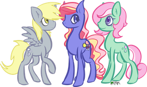 AT - Derpy, Triple Treat, and Minty by Skoryx