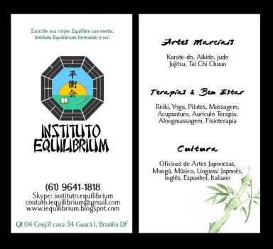 Visit Card - Instituto Equilibrium by tsukiko
