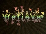 Believe: Typography Wallpaper by Waiting-Wish
