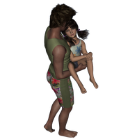 Surf Guy with his LilGirl 4 by Taryndedoo