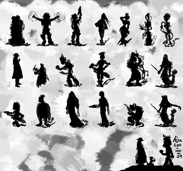 NiWa Concept Art - Silhouettes 1 by ceninan