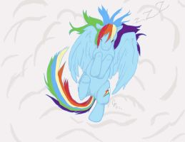 Rainbow Dash Sleeping by Babileilei