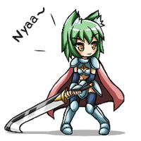 Battle sprite : Greenteaneko by GreenTeaNeko