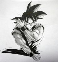 Son Goku - sketch by darkogoku