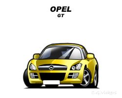 Chibi Opel GT by CGVickers