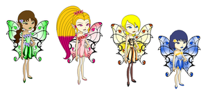 Wings of Natura: Fairy Designs For Reiki by ShadowMark158