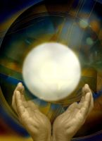 Stock_Golden Hands and Orb by AVAdesign
