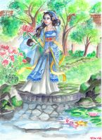 The lady and the Chrysanthemum by dancingheron
