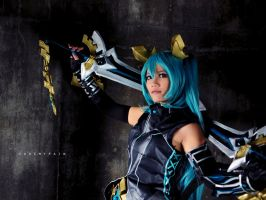 Hatsune Miku Armored FanArt by cure-pain