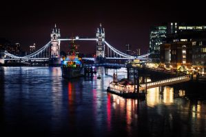 London at night by air-force-1