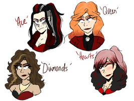 Doodle Dump: 'Decks' ladies by ThoughtfulMelonlord