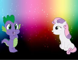 Spike and Sweetie Belle by tani102