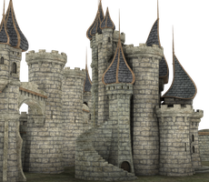 3d Fantasy Castle Stock Parts #28 Palace Kingdom by madetobeunique