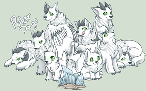 Horned Polar Dogs by Mousu