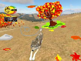 Wolf Quest:Autumn Wolf ID by LouaWolf