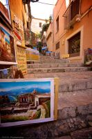 Stairs in Taormina Sicily by 7whitefire7