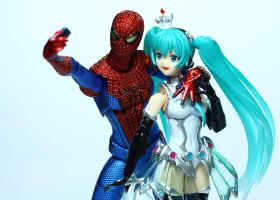 Figma Spiderman and Valentine's Day by Grims-Garden00