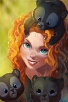 One more Merida by vagab0nda