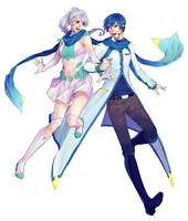 COMMISSION Spell and Kaito by bonbonjelly