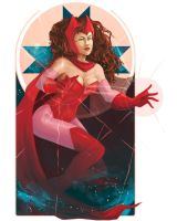 Scarlet Witch by shakusaurus