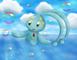 Bubbly Manaphy by Rose-Beuty