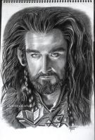 Thorin Oakenshield charcoal drawing by cLoELaLi11
